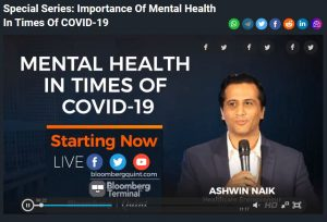 Bloomberg Quint – Mental Health and COVID19