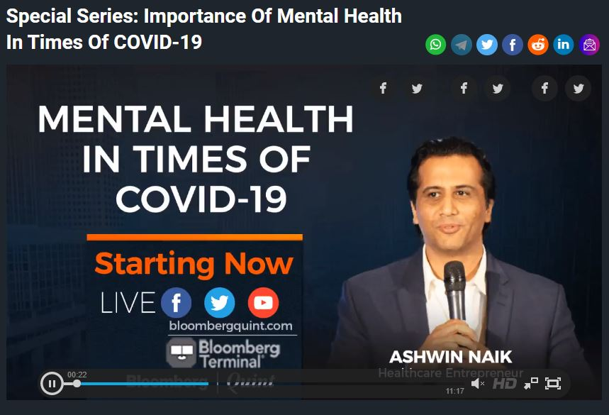 Bloomberg Quint - Mental Health and COVID19